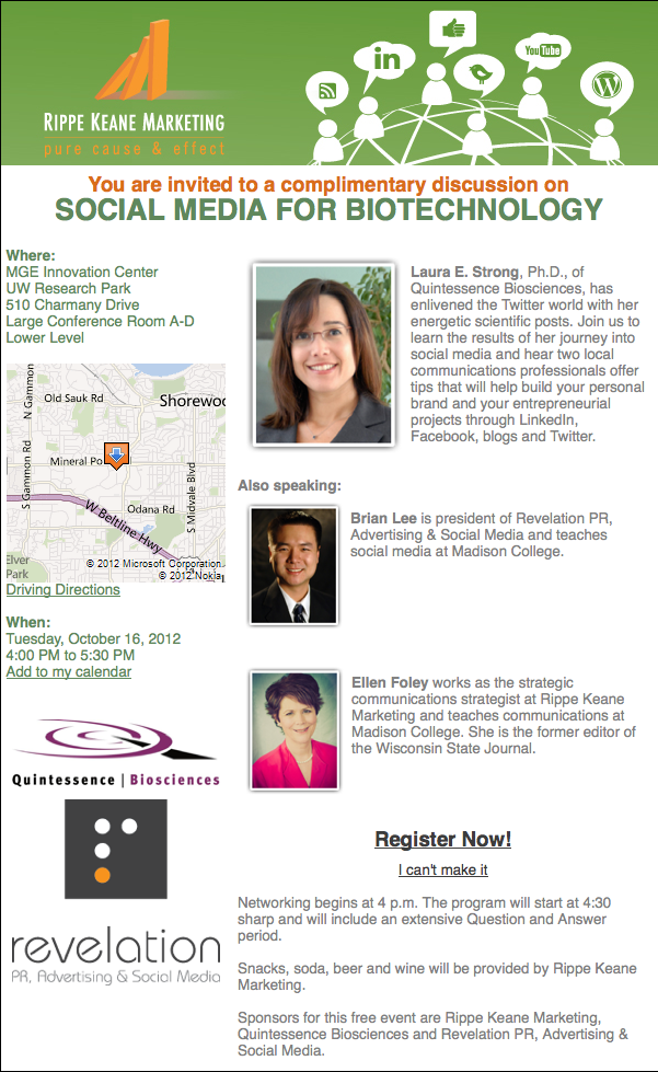 Social Media for Biotechnology
